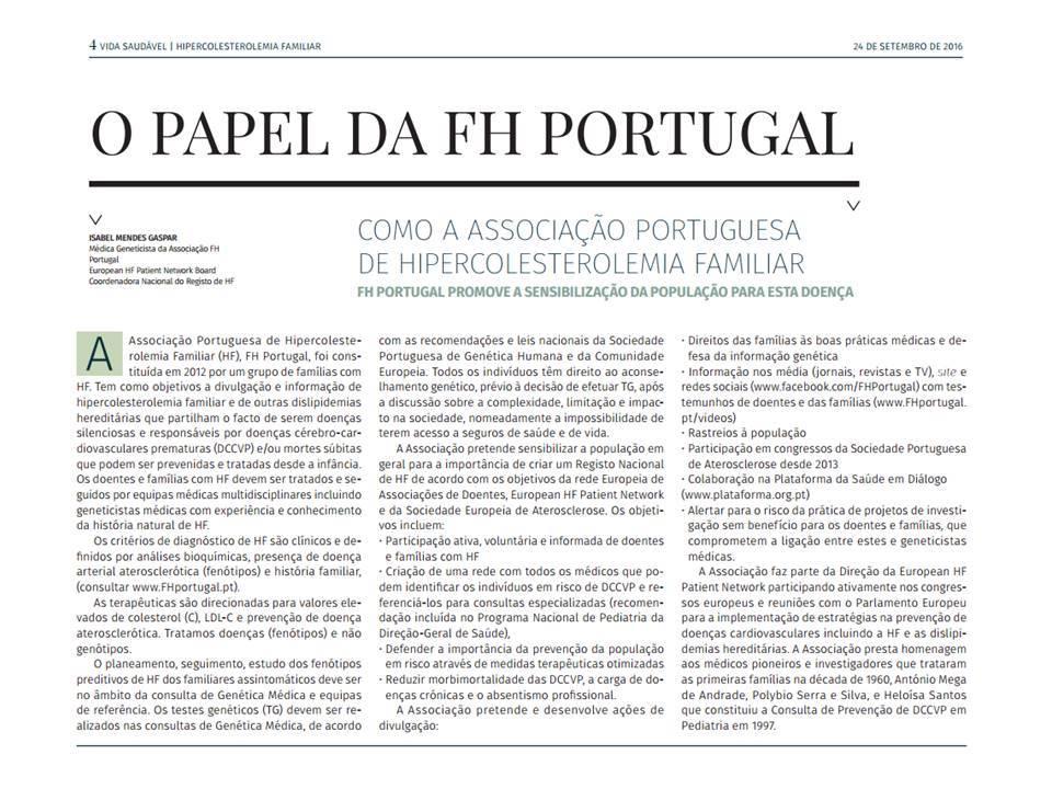 Papel_FH Portugal_como_ Associação promove_ensibilização_população_ para_doença_2016